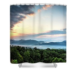 Shower Curtain featuring the photograph September Sunrise by Douglas Stucky