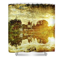 September Sunset In Chenonceau - Vintage Version Shower Curtain
