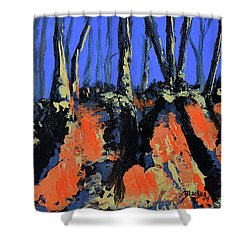 September's Symphony Shower Curtain by Donna Blackhall