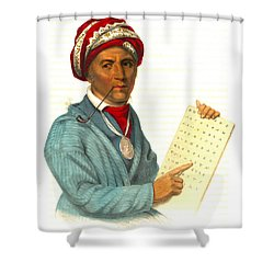 Shower Curtain featuring the photograph Sequoyah 1838 by Padre Art
