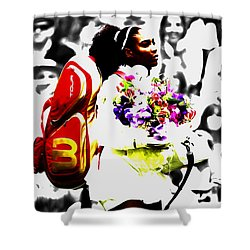 Serena Williams 2f Shower Curtain by Brian Reaves