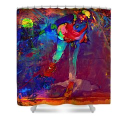 Serena Williams Return Explosion Shower Curtain by Brian Reaves