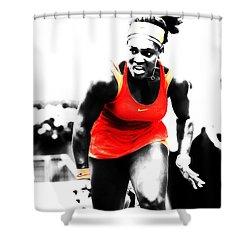 Serena Williams Go Get It Shower Curtain