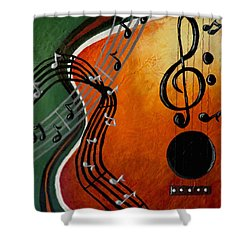 Serenade Shower Curtain by Teresa Wing