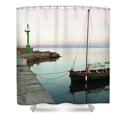 Shower Curtain featuring the photograph Serene Awakening by Davor Zerjav