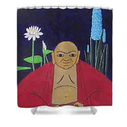 Serene Buddha Shower Curtain
