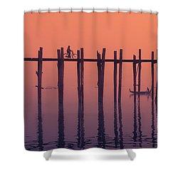 Serene Dawn Shower Curtain by Marji Lang