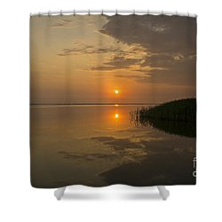 Shower Curtain featuring the photograph Serene Evening by Inge Riis McDonald