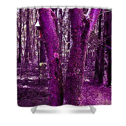 Shower Curtain featuring the photograph Serene In Purple by Michelle Audas