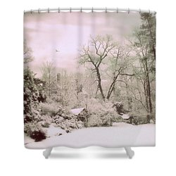 Shower Curtain featuring the photograph Serene In Snow by Jessica Jenney