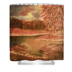 Serene Lake  Shower Curtain