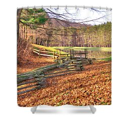 Shower Curtain featuring the photograph Serene Lake by Gordon Elwell