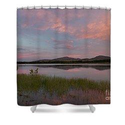 Serene Lake Shower Curtain by Iris Greenwell