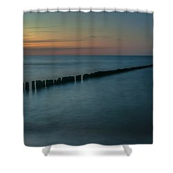 Serene Lines Shower Curtain