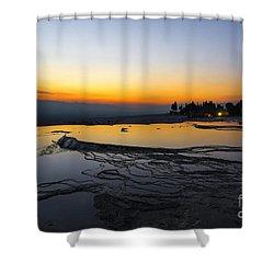 Serene Night In Pammukale Shower Curtain by Yuri Santin