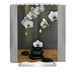 Shower Curtain featuring the photograph Serene Orchid by Terence Davis
