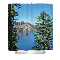 Serene Pines Shower Curtain