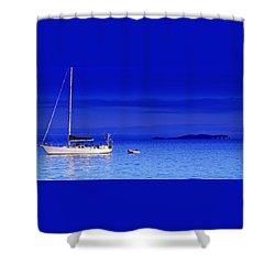 Serene Seas Shower Curtain by Holly Kempe
