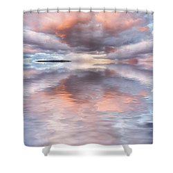 Serenity And Peace Shower Curtain by Jerry McElroy