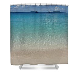 Serenity At Trunk Bay  Shower Curtain by Margaret Bobb