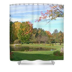 Shower Curtain featuring the digital art Serenity by Barbara S Nickerson