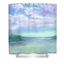 Serenity Blue Lake Shower Curtain