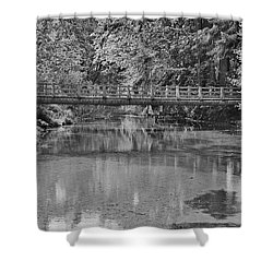 Serenity B And W Shower Curtain
