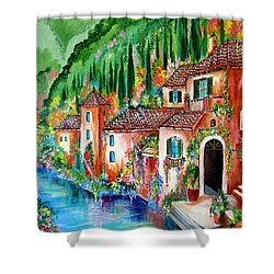 Serenity By The Lake Shower Curtain by Roberto Gagliardi