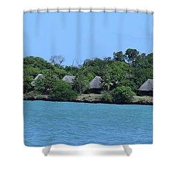 Serenity - Chale Island Kenya Africa Shower Curtain