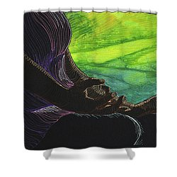 Serenity Shower Curtain by Jo Baner