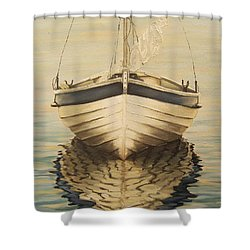 Shower Curtain featuring the painting Serenity by Natalia Tejera