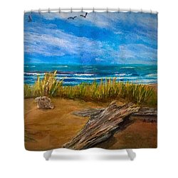 Serenity On A Florida Beach Shower Curtain