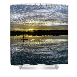 Serenity On A Paddleboard Shower Curtain