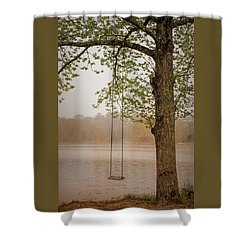 Serenity On The Lake Shower Curtain