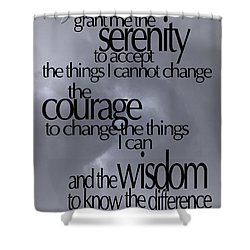 Serenity Prayer 05 Shower Curtain