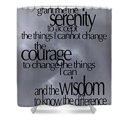 Serenity Prayer 05 Shower Curtain by Vicki Ferrari