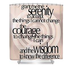 Serenity Prayer 06 Shower Curtain