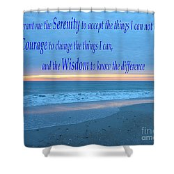 Serenity Prayer-1 Shower Curtain