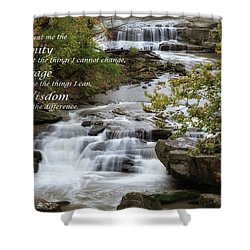 Shower Curtain featuring the photograph Serenity Prayer by Dale Kincaid