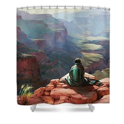 Shower Curtain featuring the painting Serenity by Steve Henderson