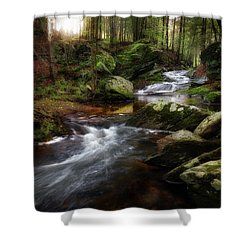 Shower Curtain featuring the photograph Serenity Sunrise by Bill Wakeley