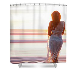 Serenity Sunset Shower Curtain