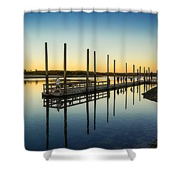 Serenity Sunset Kings Park New York Shower Curtain