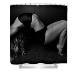 Serious Back Bend Shower Curtain