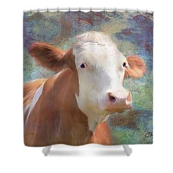 Shower Curtain featuring the mixed media Serious Business by Colleen Taylor