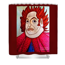 Shower Curtain featuring the painting Serious Cardinal by Don Pedro De Gracia