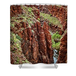 Shower Curtain featuring the photograph Serious Crags by T Brian Jones