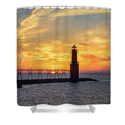Shower Curtain featuring the photograph Serious Sunrise by Bill Pevlor