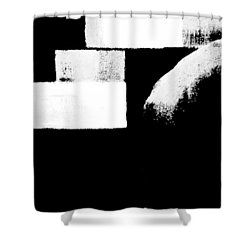 Seriously Black And White Shower Curtain