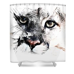 Seriously Cougar Shower Curtain